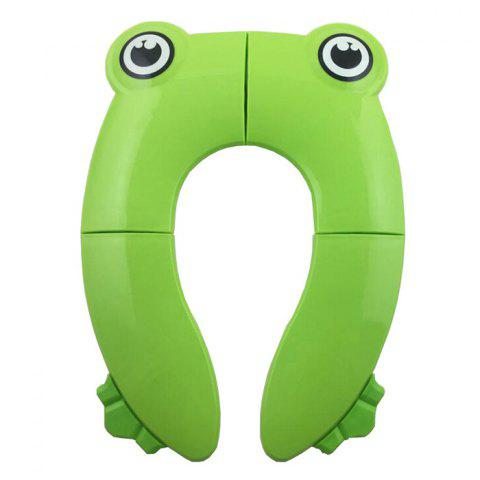 Children's Portable Folding Toilet Seat - GREEN SNAKE