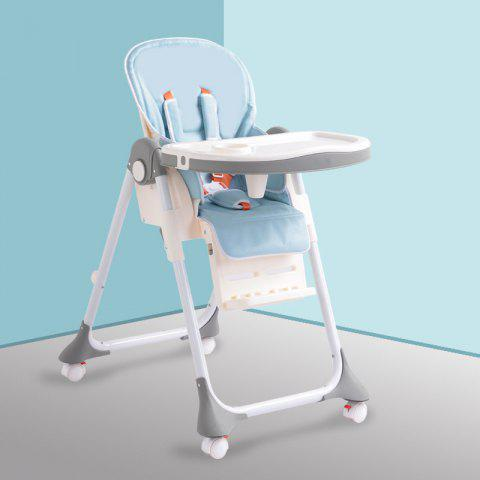 Aricare ACE1015 - A Multifunctional Portable Children's Dining Chair - PALE BLUE LILY SOLID COLOR