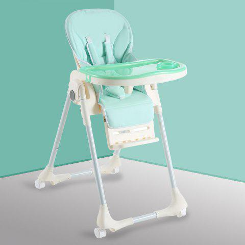 Aricare ACE1015 - A Multifunctional Portable Children's Dining Chair - GREEN SOLID COLOR