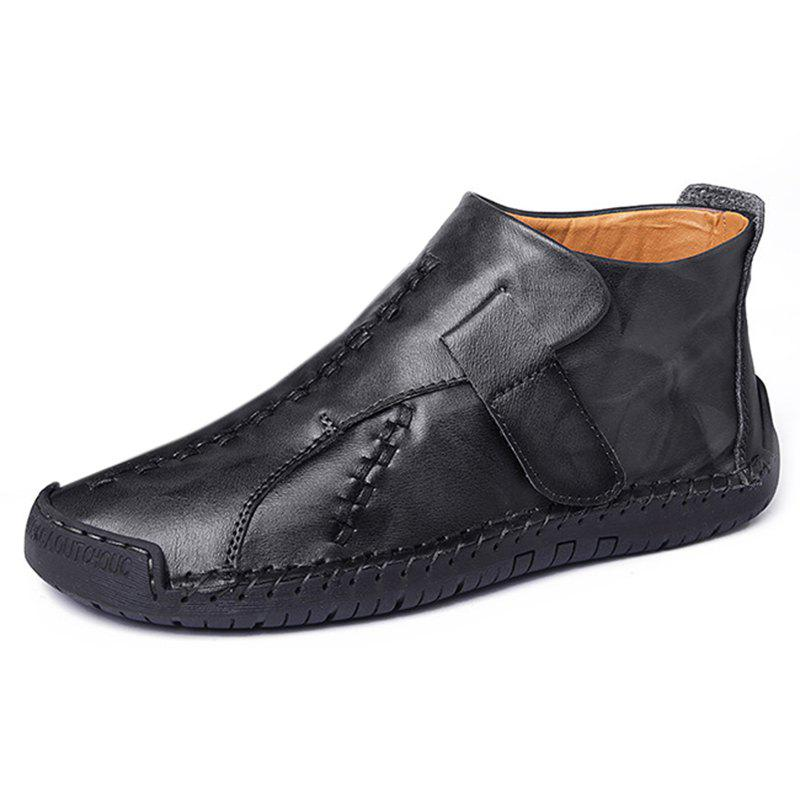 Fashion Non-slip Casual Middle High Stitching Oxford Shoes - BLACK EU 42