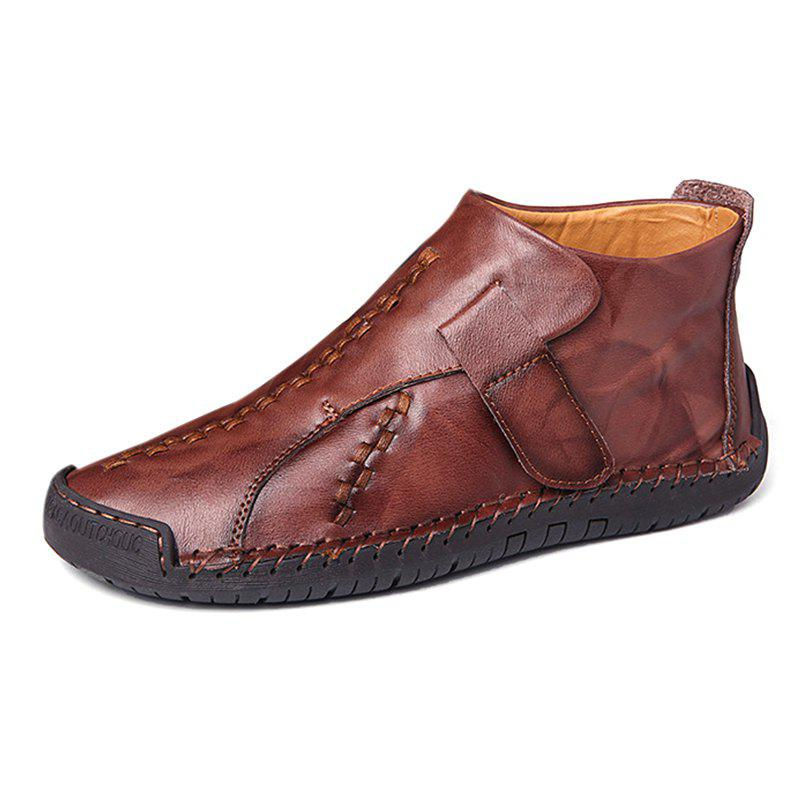 Fashion Non-slip Casual Middle High Stitching Oxford Shoes - CHESTNUT EU 41