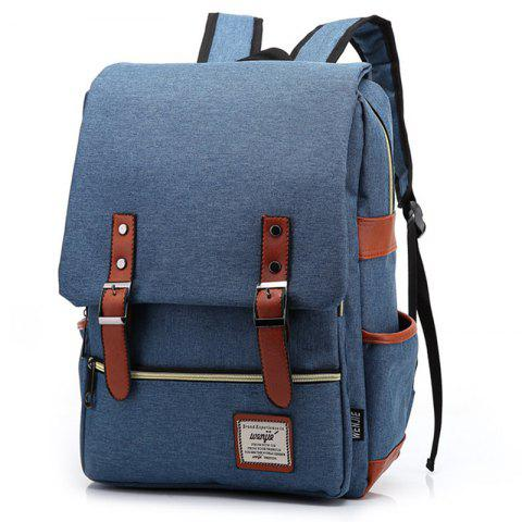 2019 Fashion Water-resistant Canvas Backpack In MIDNIGHT BLUE ... 073f20f9ae18e