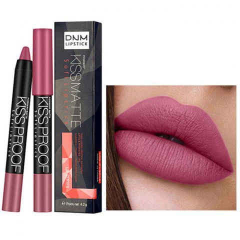 DNM ML0010 Durable Waterproof Velvet Matte Lipstick Pen - BLUSH RED 09