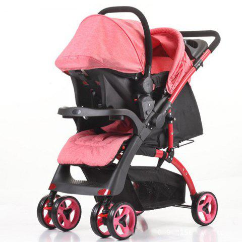 Mamakids K - 98KC Baby Stroller with Basket - RED