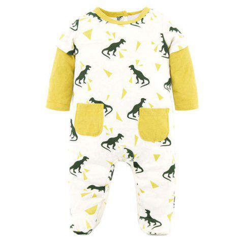 PY1050 Cotton Cartoon Baby Newborn Robes Romper - multicolor A 3M