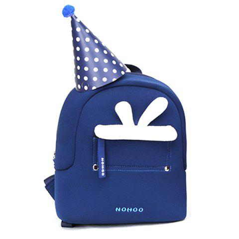 NOHOO NHQ008 / 09 / 10 / 11 Parent-child Elk Rabbit Backpack - BLUE S