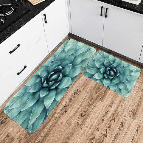 Shanghaojupin Fabric Flannel Anti-slip Floor Mat - BLUE GRAY W24 X L71 INCH