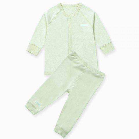 Mint Cotton MC3001 Baby Color Cotton Round Neck Clothes Suits - MINT GREEN 6-12 MONTHS