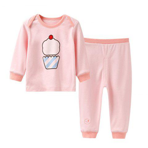 Mint Cotton MC3018 Cotton Shoulder Buckle Design Newborn Baby Suit - LIGHT PINK 9 - 12MONTHS