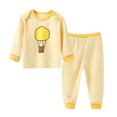 Mint Cotton MC3018 Cotton Shoulder Buckle Design Newborn Baby Suit - YELLOW 9 - 12MONTHS