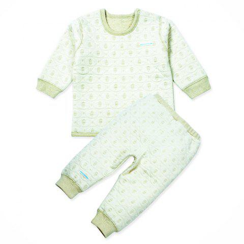 Mint Cotton MC3007 Fashionable Baby Warm Sets - MINT GREEN 3~6MONTHS