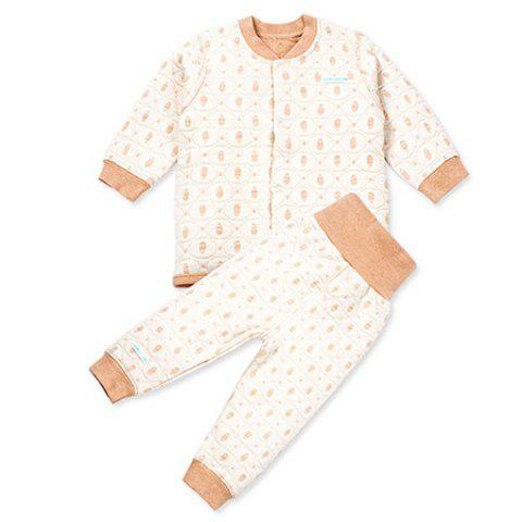 Mint Cotton MC3006 Fashionable Comfortable Baby Sets - KHAKI 6~9MONTHS