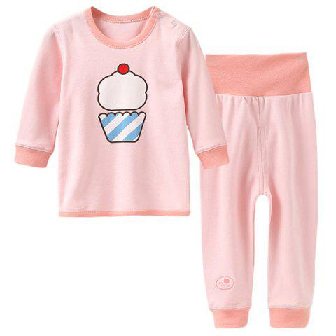 Mint Cotton MC3016 Colored-cotton Newborn Baby Shoulder Button Set - LIGHT PINK 6 - 9 MONTHS