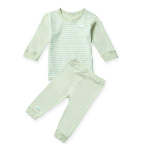 Mint Cotton MC3009 Fashionable Baby Round Neck Set - MINT GREEN 24~36MONTH