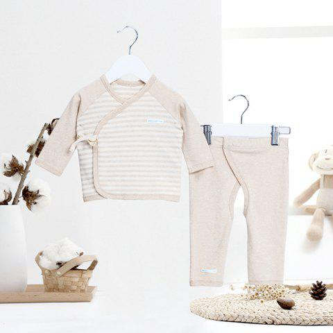 Mint Cotton MC3004 Newborn Skin-friendly Clothing Set - KHAKI 3~6MONTHS