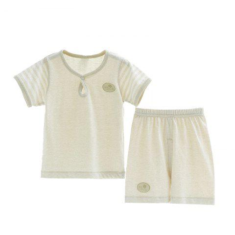 Mint Cotton MC3013 Baby Newborn Short-sleeved Dual-use Suit - BEIGE 1 - 2 YEARS