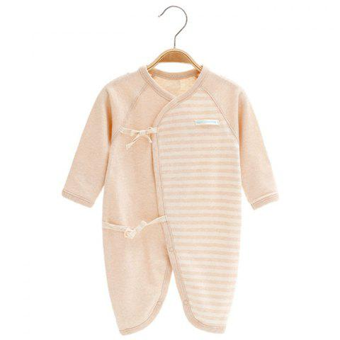 Mint Cotton MC5001 Fashionable Comfortable Baby Bodysuit - LIGHT KHAKI 3~6MONTHS