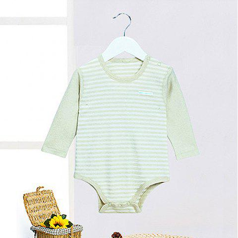 Mint Cotton MC6001 Infant Color Cotton Triangle Clothes Bodysuits Baby Romper - LIGHT CYAN 1-2YEARS