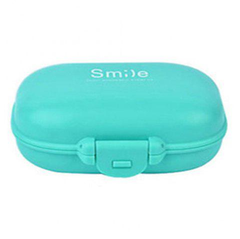 4 / 6 Grid Plastic Small Pill Storage Box - BLUE