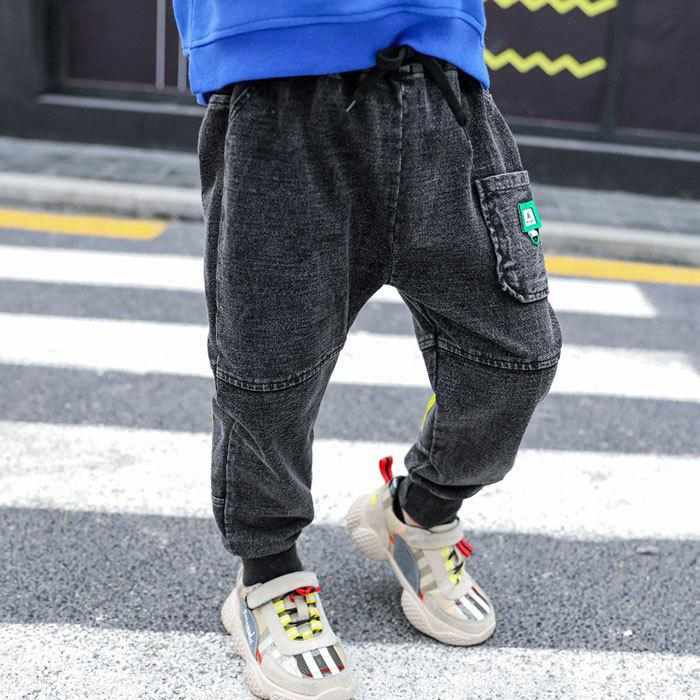 KH0046 Boy Baby Spring Jeans Constricted Leg Opening - GRAPHITE BLACK 3-4YEARS