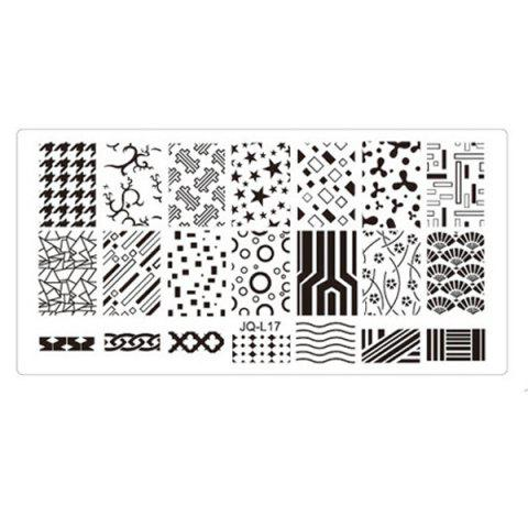 Nail Tools New Environmental Manicure Print Template - SJQL17