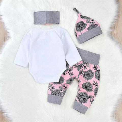 Z4070811 Baby Gold Powder Print Prince Infant Clothing Set - PINK 6 - 9 MONTHS