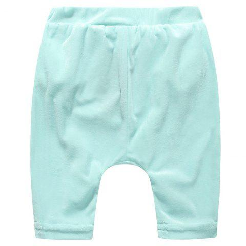 ET0180 Cartoon Plush Big Butt Baby Pants - LIGHT CYAN 9 - 12 MONTHS