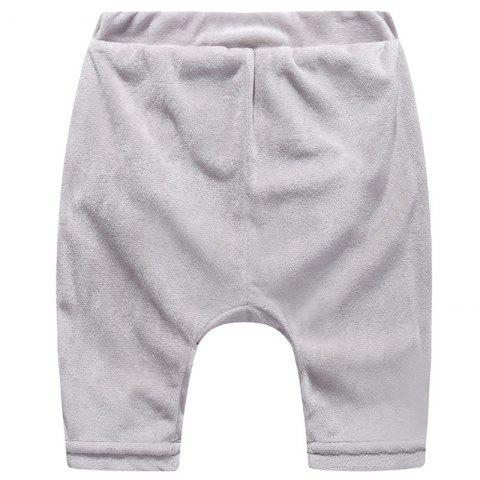 ET0180 Cartoon Plush Big Butt Baby Pants - PLATINUM 6 - 9 MONTHS