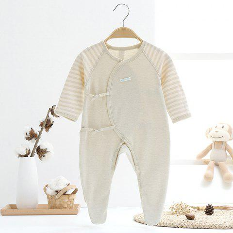 Mint Cotton MC5009 Baby Cotton Strap Jumpsuit - TEA GREEN 1~3MONTHS