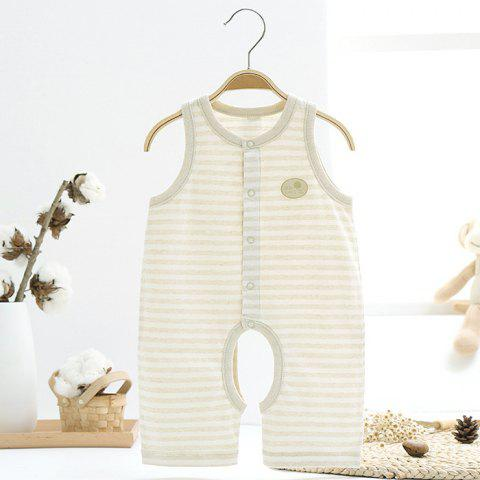 Mint Cotton MC5007 Baby Color Cotton Vest Jumpsuit - TEA GREEN 1~3MONTHS