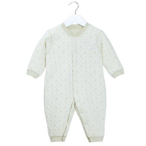 Mint Cotton MC5004 Baby Color Cotton Front Buckle Thicker Jumpsuit - TEA GREEN 1~2YEARS