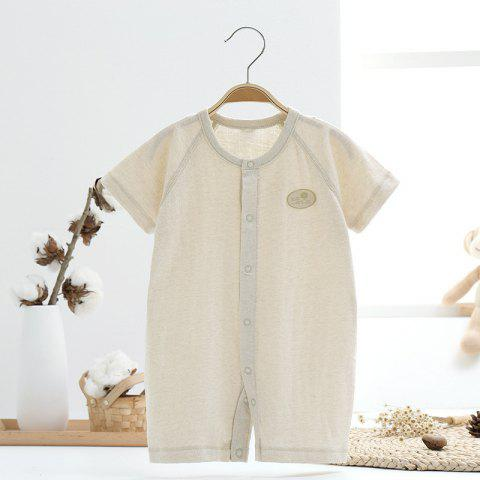 Mint Cotton MC5005 Baby Color Cotton Short Sleeve Jumpsuit - TEA GREEN 9~12MONTHS