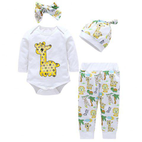 Baby Triangle Jumpsuit Four-Piece - multicolor F 6 - 9 MONTHS