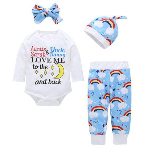 Baby Triangle Jumpsuit Four-Piece - multicolor G 9 - 12 MONTHS