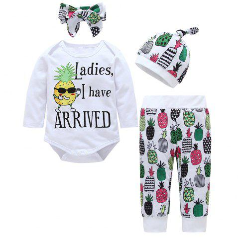 Baby Triangle Jumpsuit Four-Piece - multicolor I 6 - 9 MONTHS