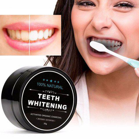MQ002 Natural Activated Carbon Whitening Beauty Tooth Powder - BLACK