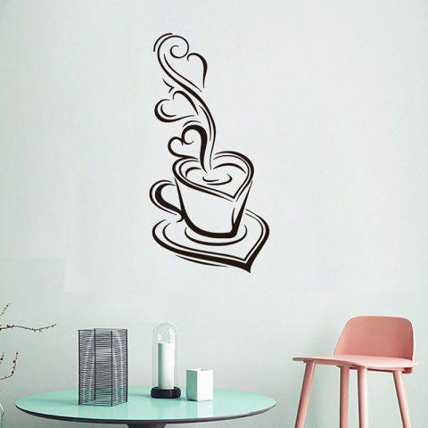 DX047 Coffee Cup Wall Sticker - BLACK
