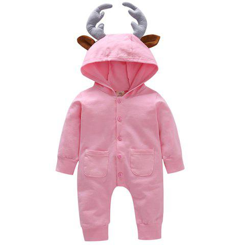 GKT07 Men Women Baby Long-sleeved Romper - PINK 18 - 24 MONTHS