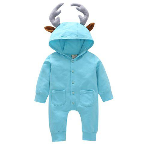 GKT07 Men Women Baby Long-sleeved Romper - SKY BLUE 6 - 9 MONTHS