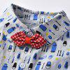 Cartoon Printed Bodysuit for Boys - multicolor A 9 - 12 MONTHS