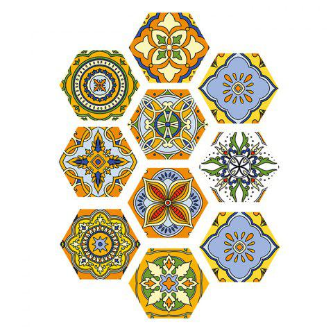 DB10P001 Moroccan Style Floor Wall Sticker - WHITE
