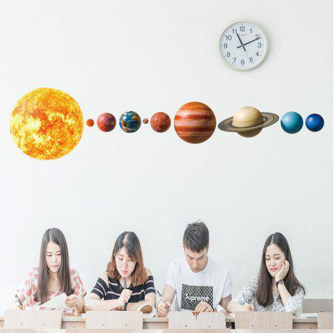 673 Solar System Planet Personality Wall Sticker - YELLOW 50*70CM