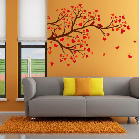 KM215 Love Heart-shaped Tree Birds Personality Wall Sticker - multicolor