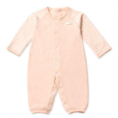 Mint Cotton MC5002 Front Button Newborn Romper - KHAKI 12~18MONTHS