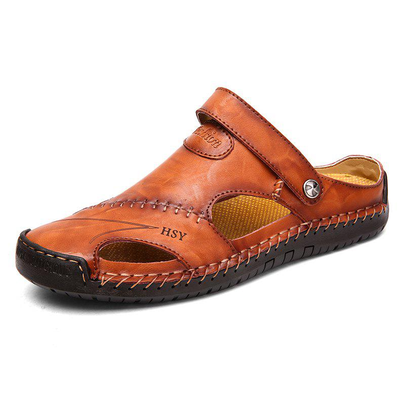Men Beach Casual Sandals Breathable Lightweight Super Comfortable - DEEP BROWN 41