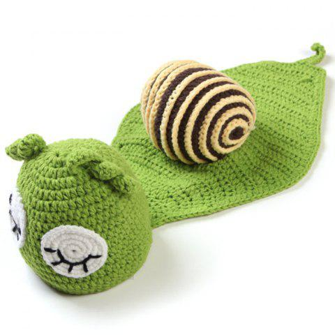 MZS - 14053 Cyan Snail Model Baby Knitted Jumpsuit - GREEN ONION 0 - 3 MONTHS