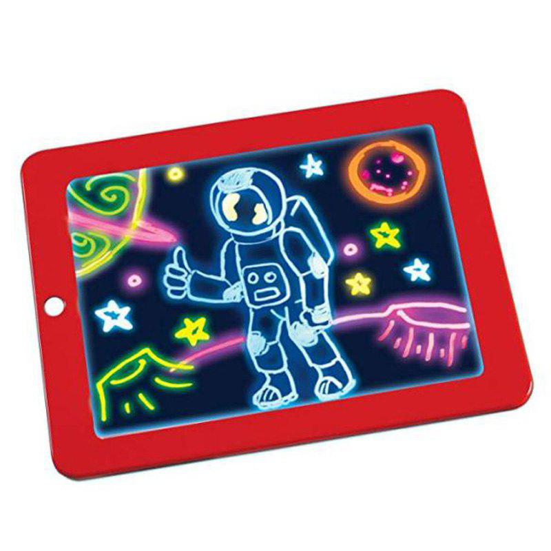 3D Children Educational Flaring Magic Drawing Board - RED