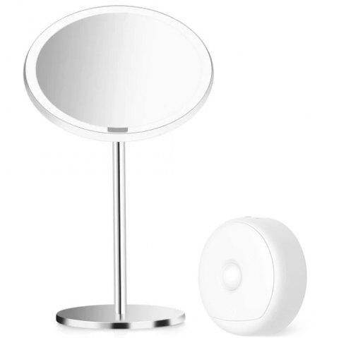 Yeelight YLGJ01YL Portable LED Makeup Mirror with Light for Table Decoration - SILK WHITE MAKEUP MIRROR + 1PC NIGHT LIGHT