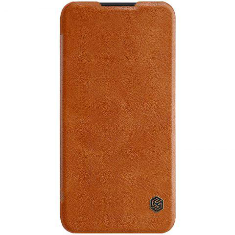 NILLKIN Protective Phone Case Leather Cover for Xiaomi Mi Play - TIGER ORANGE