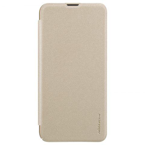 NILLKIN Sparkle Flip PU Leather Phone Case for HUAWEI Honor V20 - TAN BROWN
